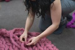 вязание из толстой пряжи