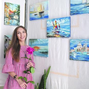 Александра Воробьева, мастер-классы по живописи