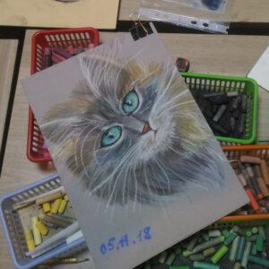Мастер-класс рисунок пастелью